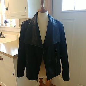 G.I.L.I. Authentic Black Leather Moto Jacket sz M